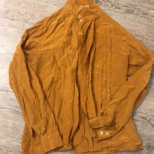 Tops - Mustard yellow button up